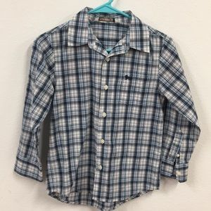 Boys plaid long sleeve shirt Old Navy M
